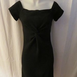 CHARLES CHANG-LIMA BLACK SHEATH DRESS SZ: 4 *